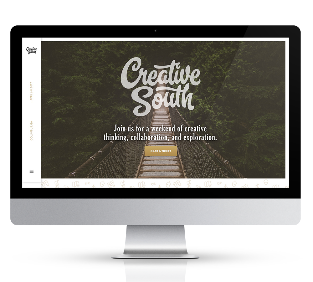 Creative South 2017 Desktop Website in a iMAC mockup