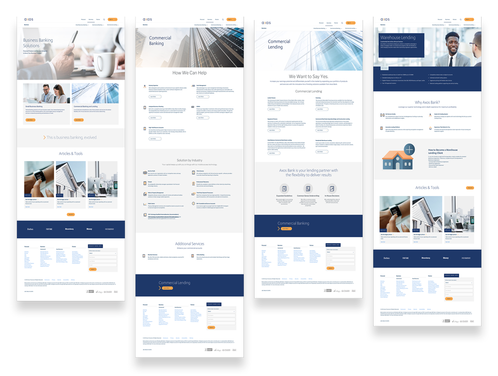 Main Business Pages mockup